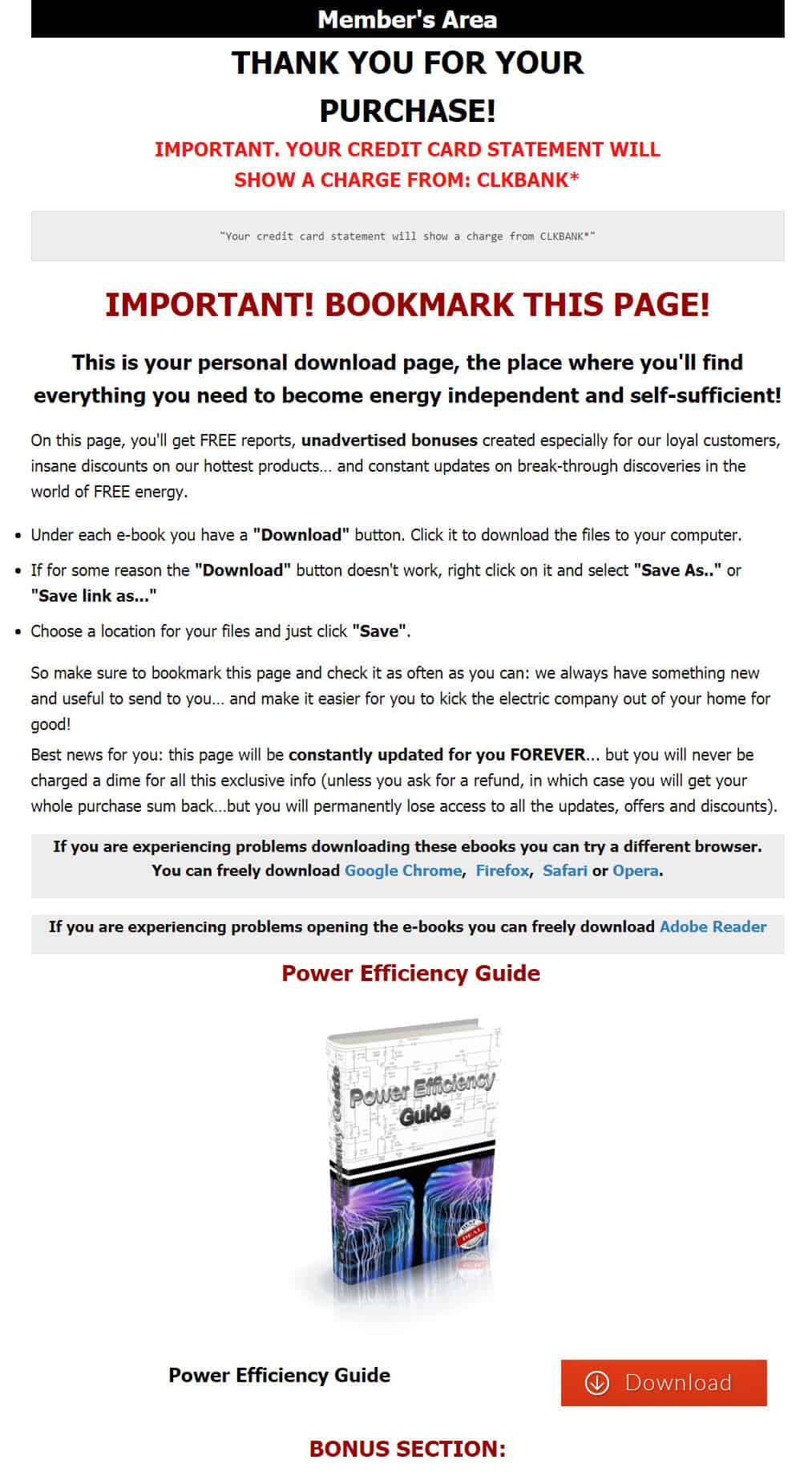 Power Efficiency Guide Download Page