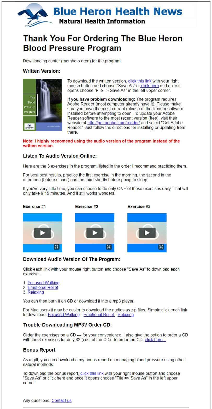 Blood Pressure Program Download Page