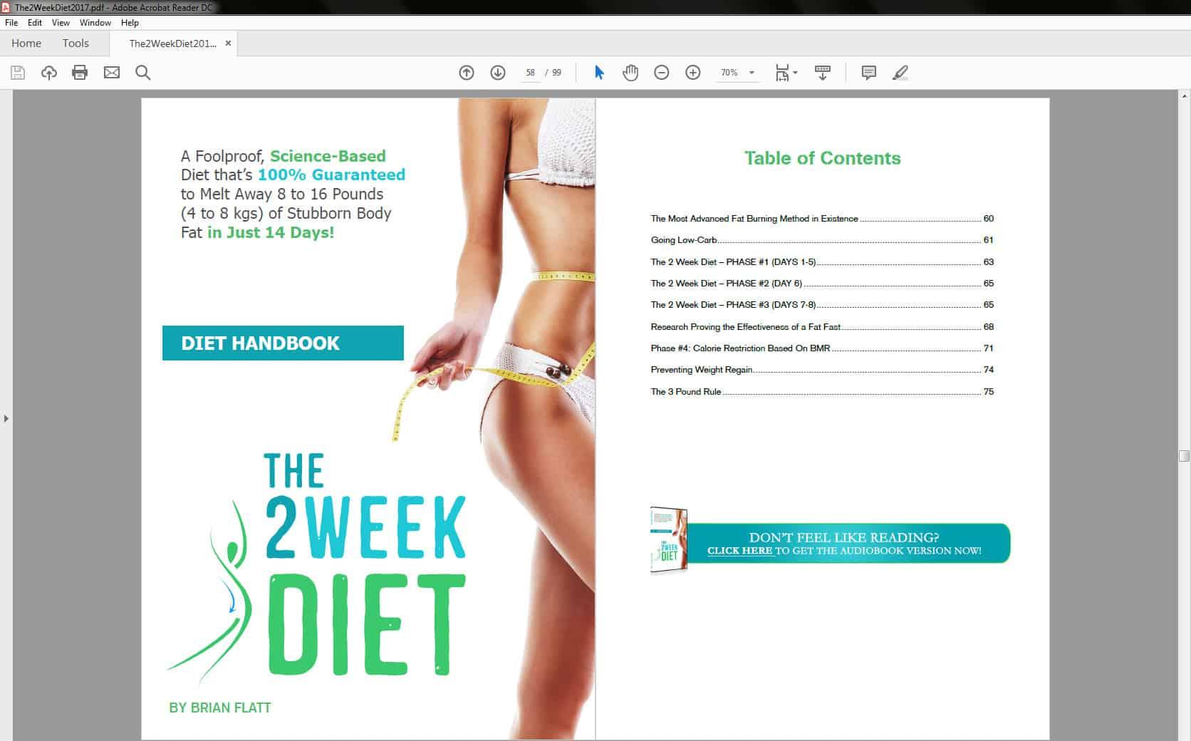 Diet Handbook Table of Contents
