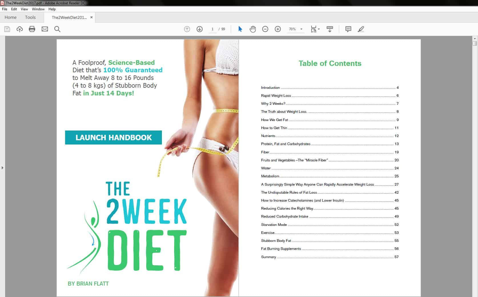 Lose fat in 2 weeks diet