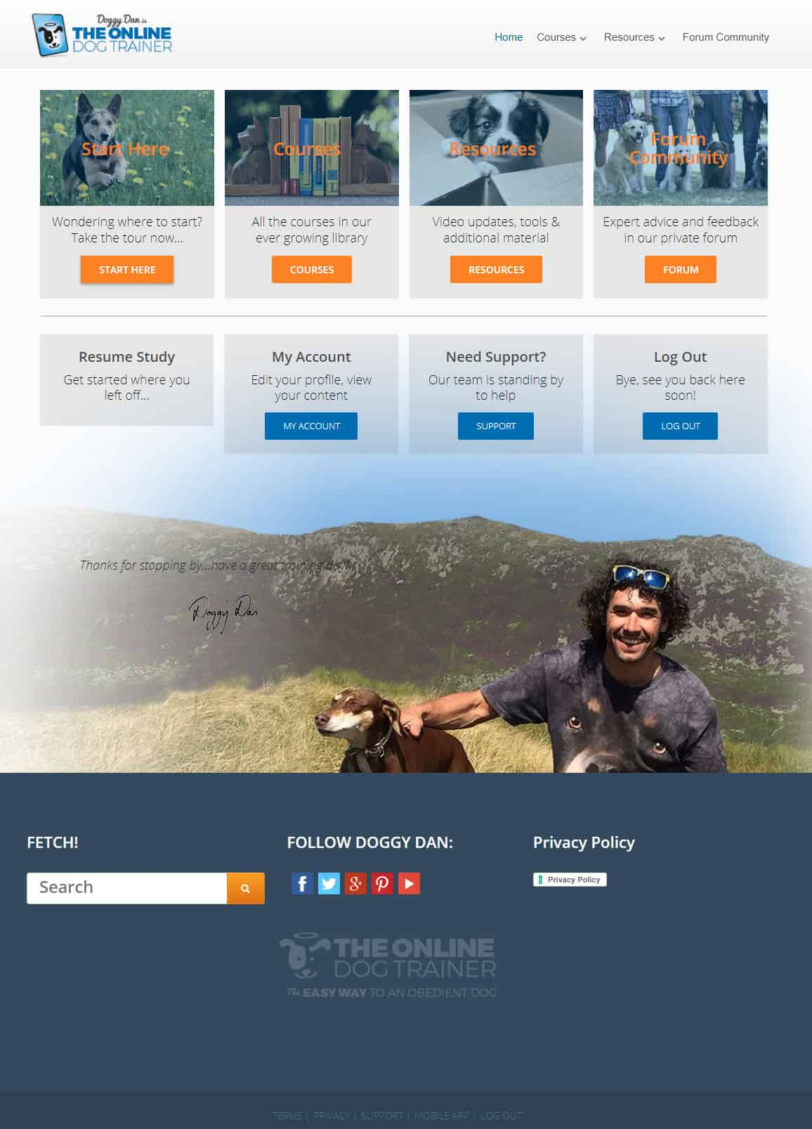 Doggy Dan's The Online Dog Trainer Download Page