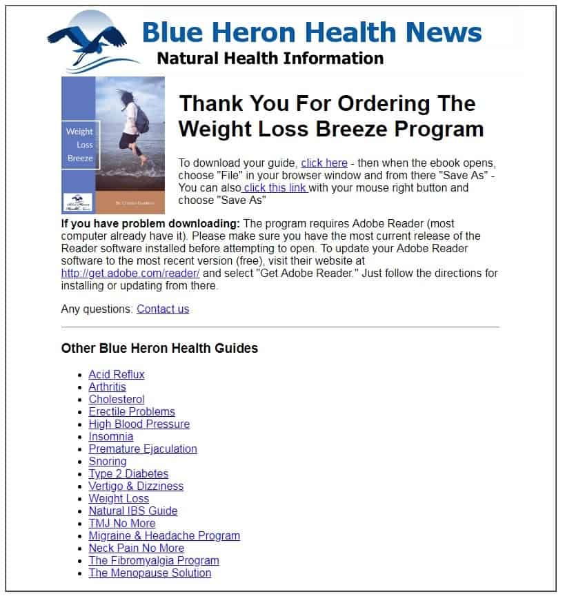 weight loss breeze download page