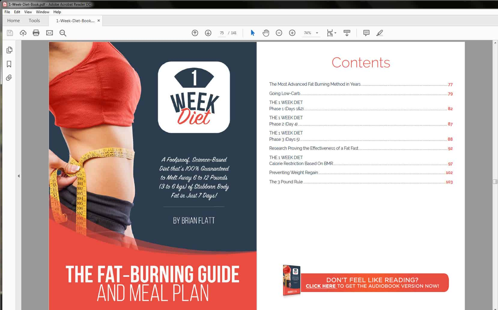 Fat Burning Guide and Meal Plan Table of Contents