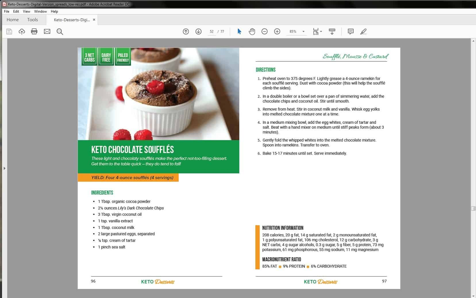 Keto Desserts Recipe Example