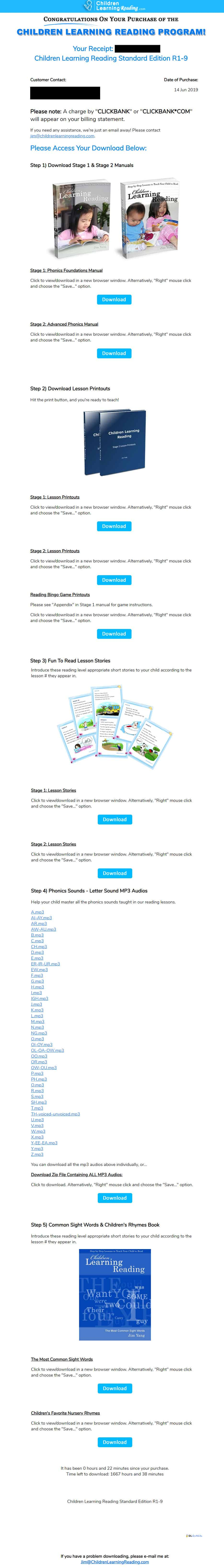 Children Learning Reading Download Page