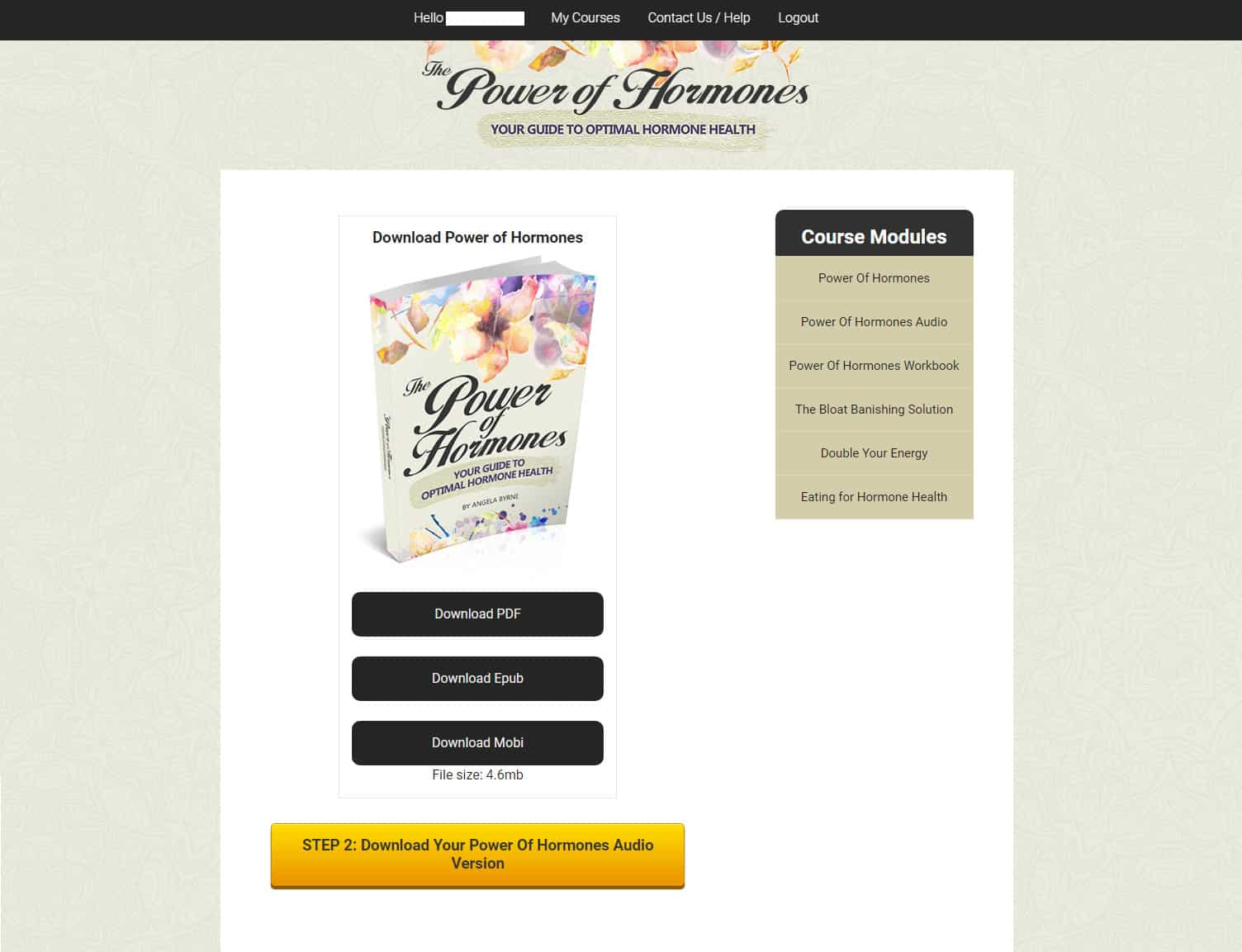 The Power of Hormones Download Page