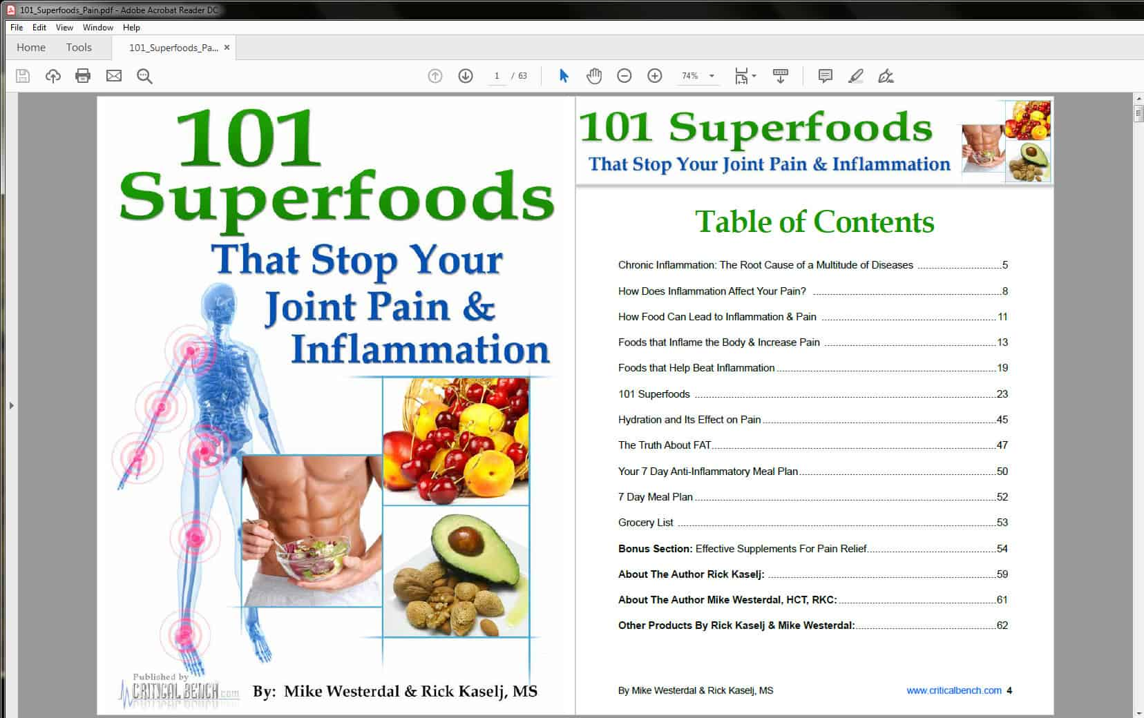 101 Superfoods that Stop Your Joint Pain & Inflammation Table of Contents