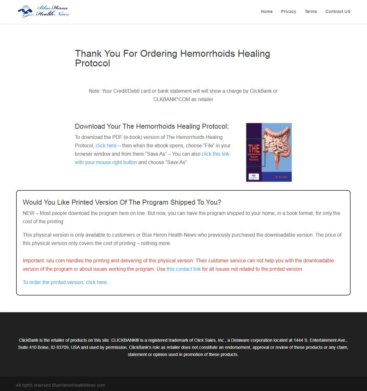 Hemorrhoids Healing Protocol Download PAge