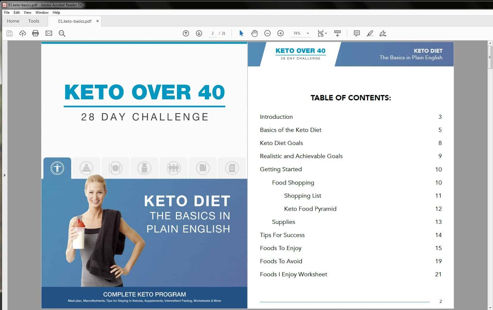 Keto Over Forty 28-Day Challenge Basics Table of Contents