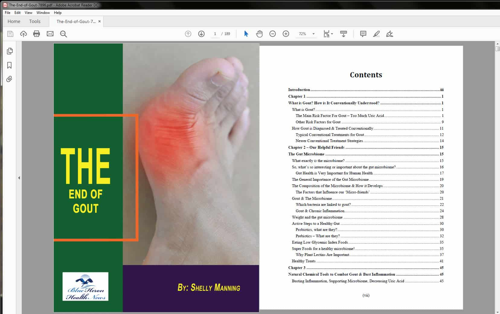 The End of Gout Table of Contents