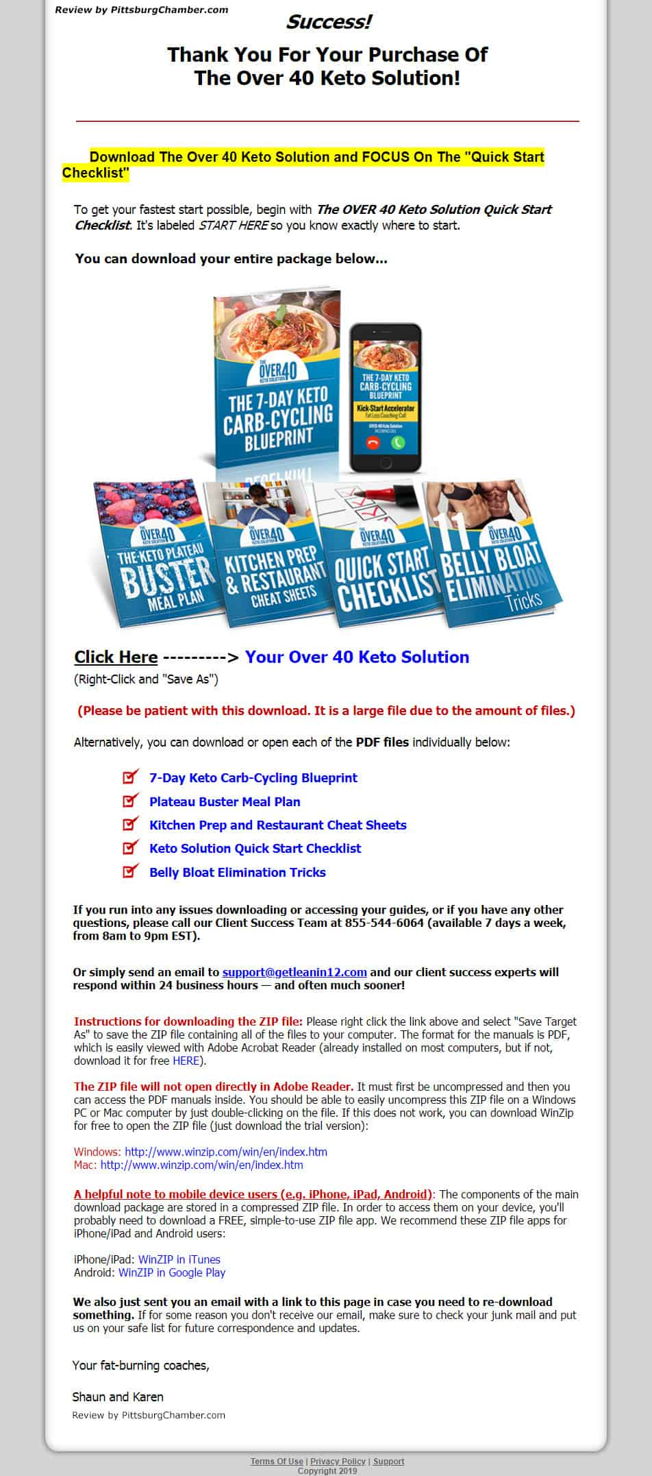 Over 40 Keto Solution Download Page