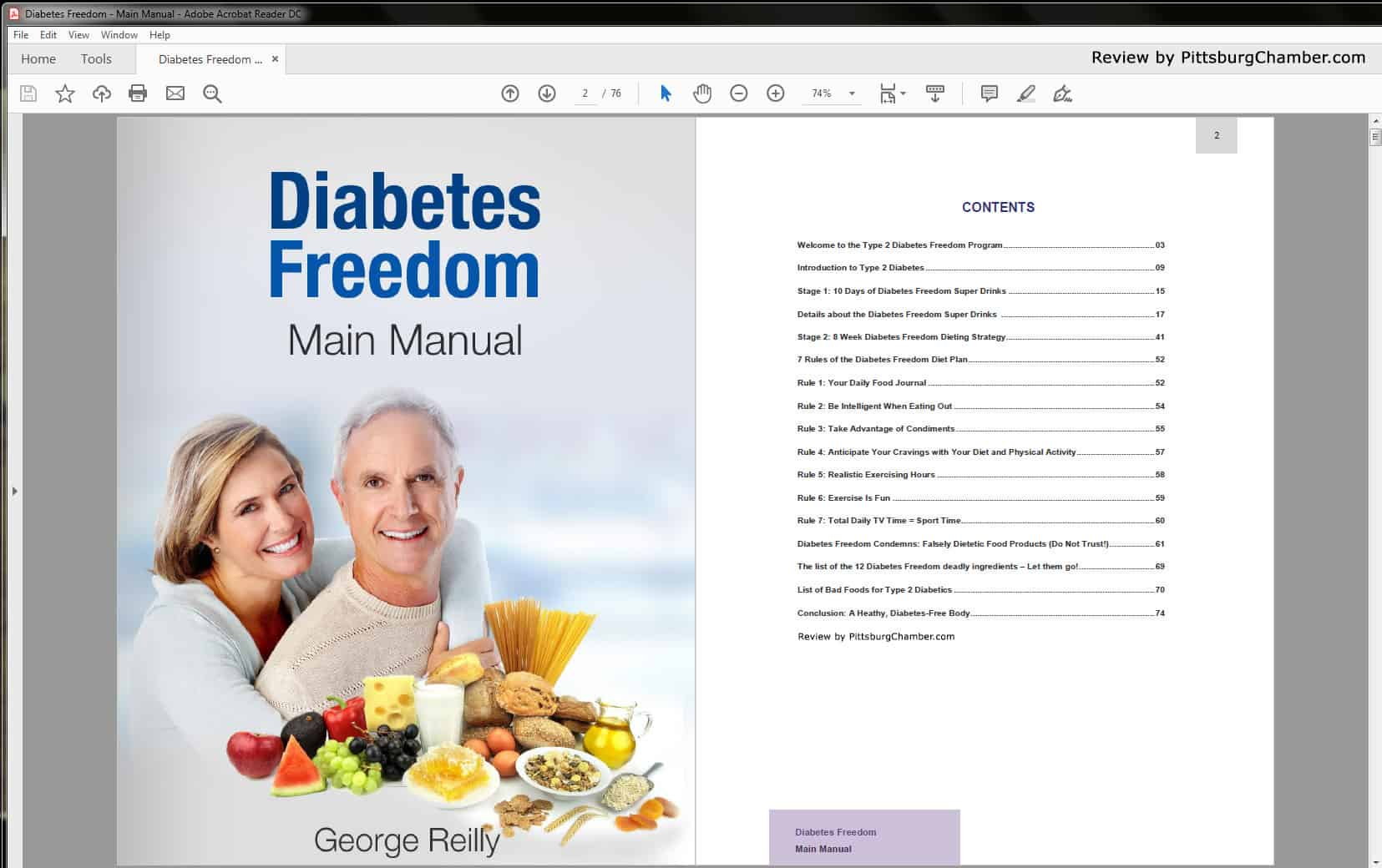 Diabetes Freedom Table of Contents