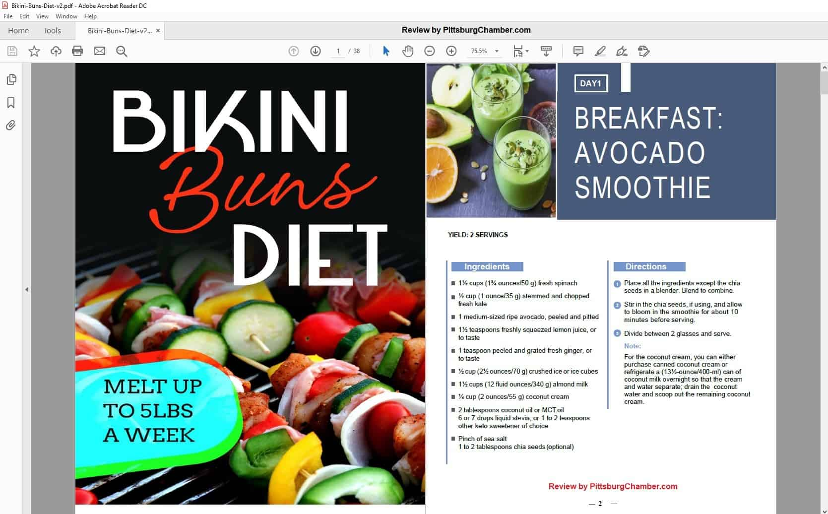 Stephanie H.'s Bikini Buns Table of Contents