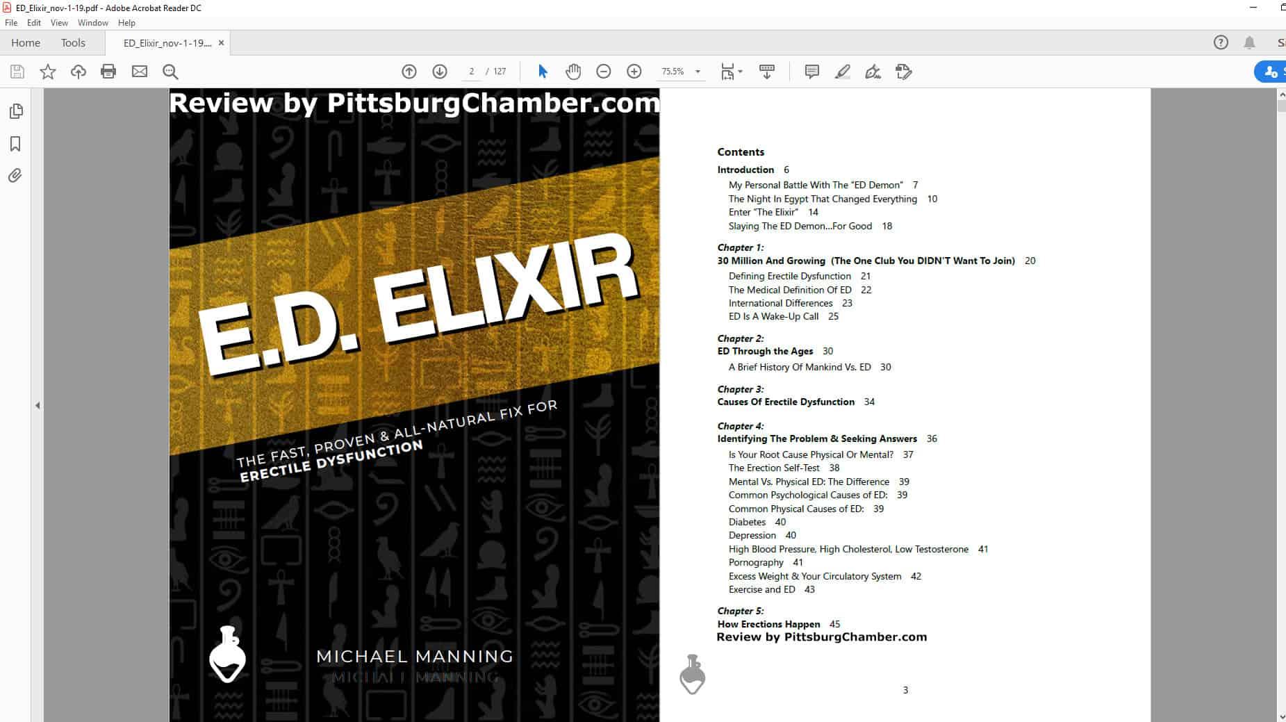 E.D. Elixir Table of Contents