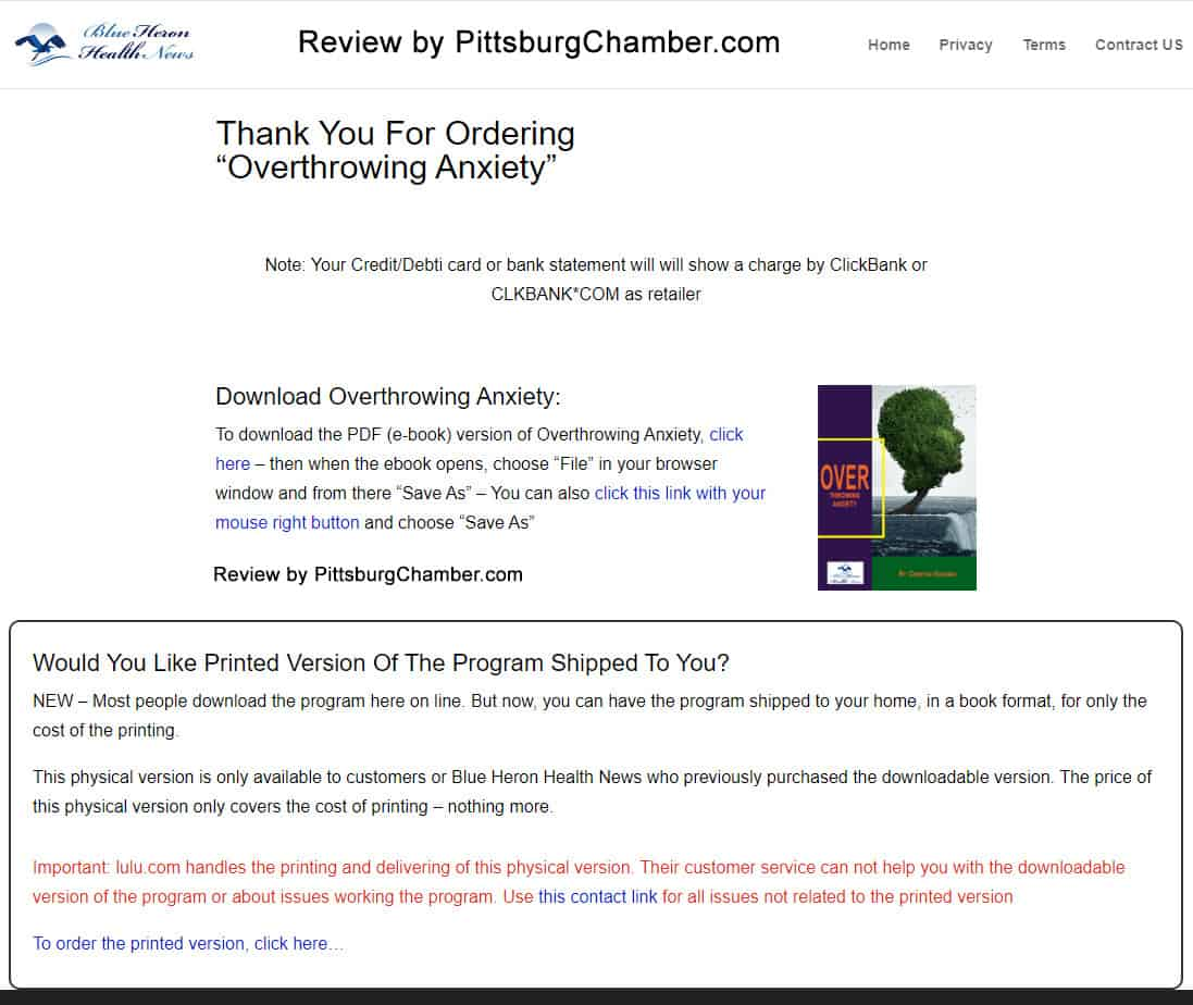 Overthrowing Anxiety Download Page