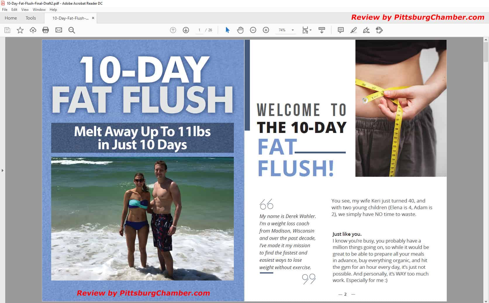 10-Day Fat Flush Table of Contents