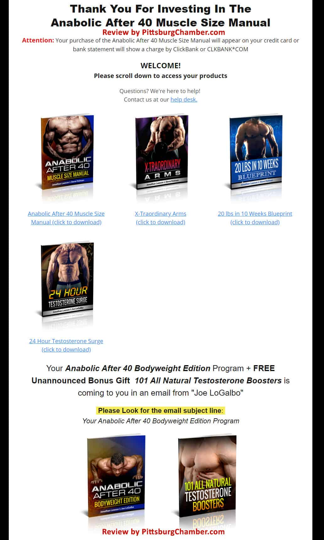Anabolic After 40 Muscle Size Manual Download Page