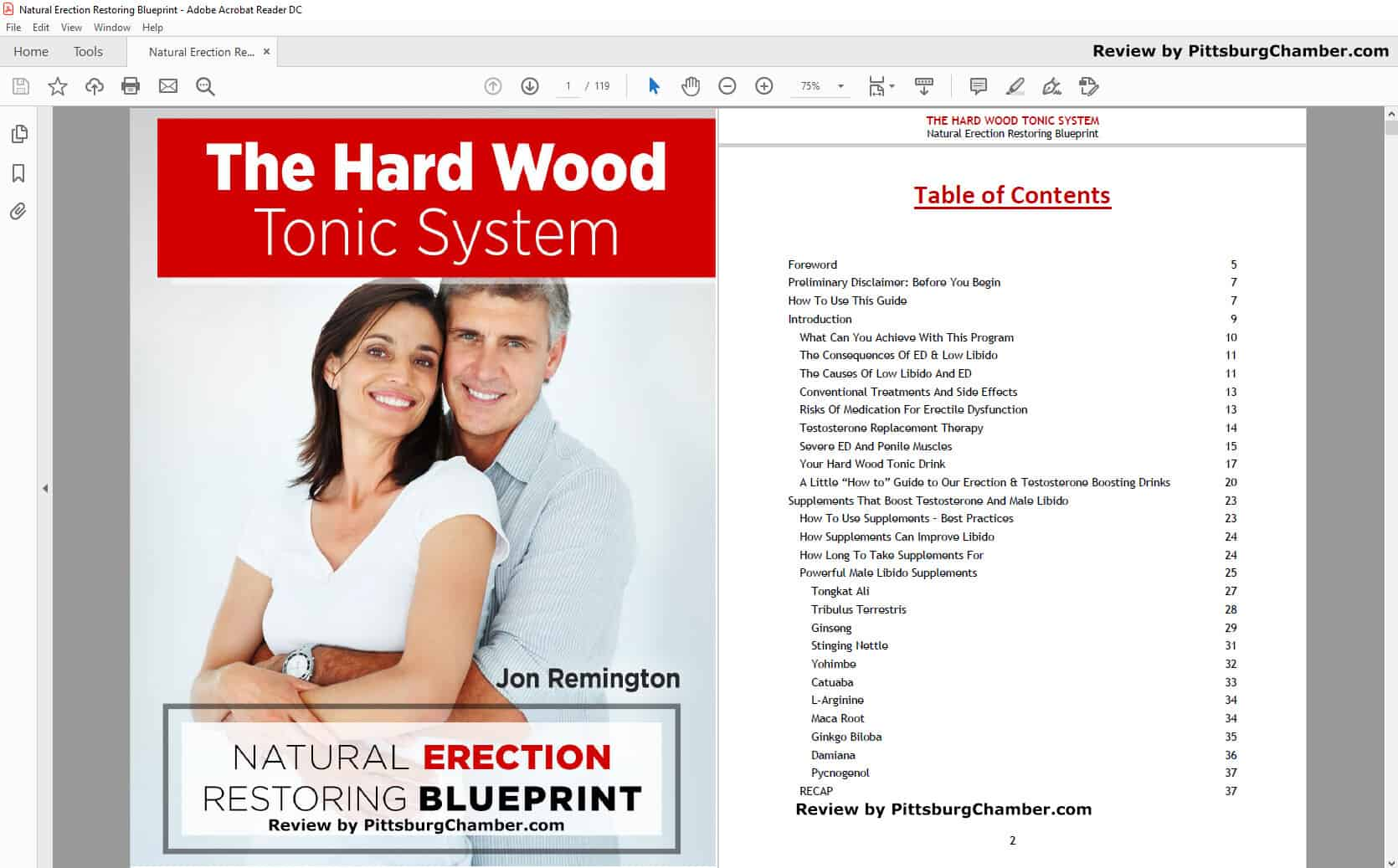 Hard Wood Tonic Table of Contents