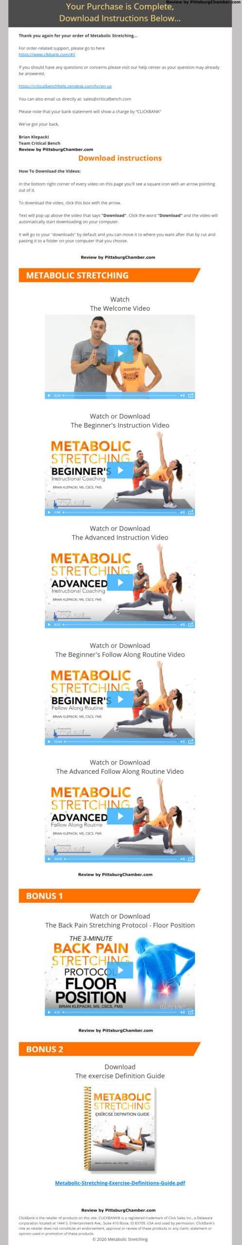 Metabolic Stretching Download Page