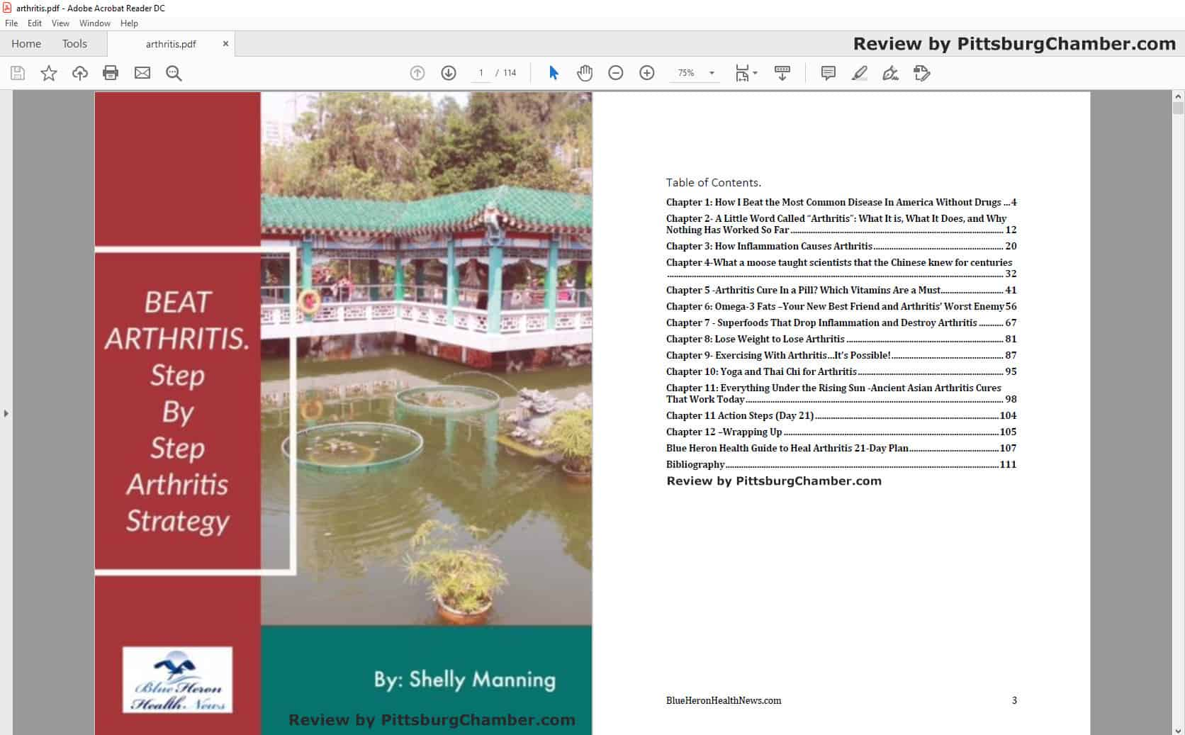 The Arthritis Step By Step Strategy Table of Contents