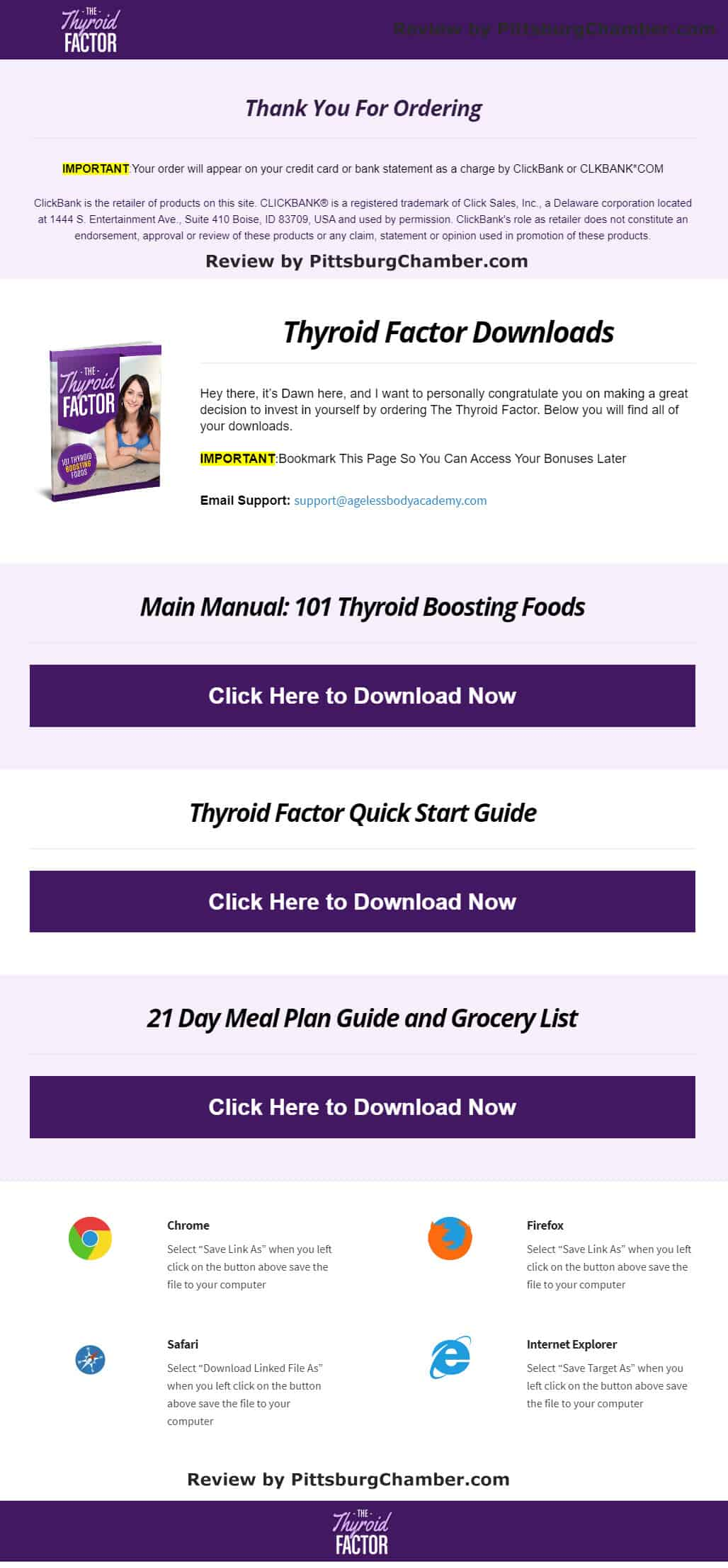 The Thyroid Factor Download Page