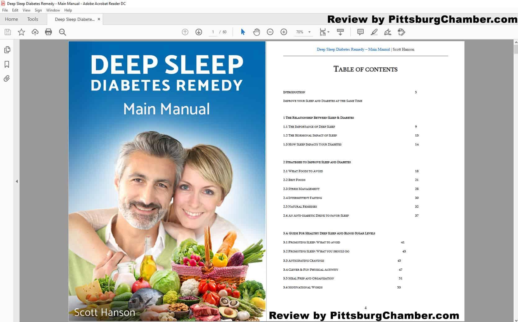 Deep Sleep Diabetes Remedy Table of Contents