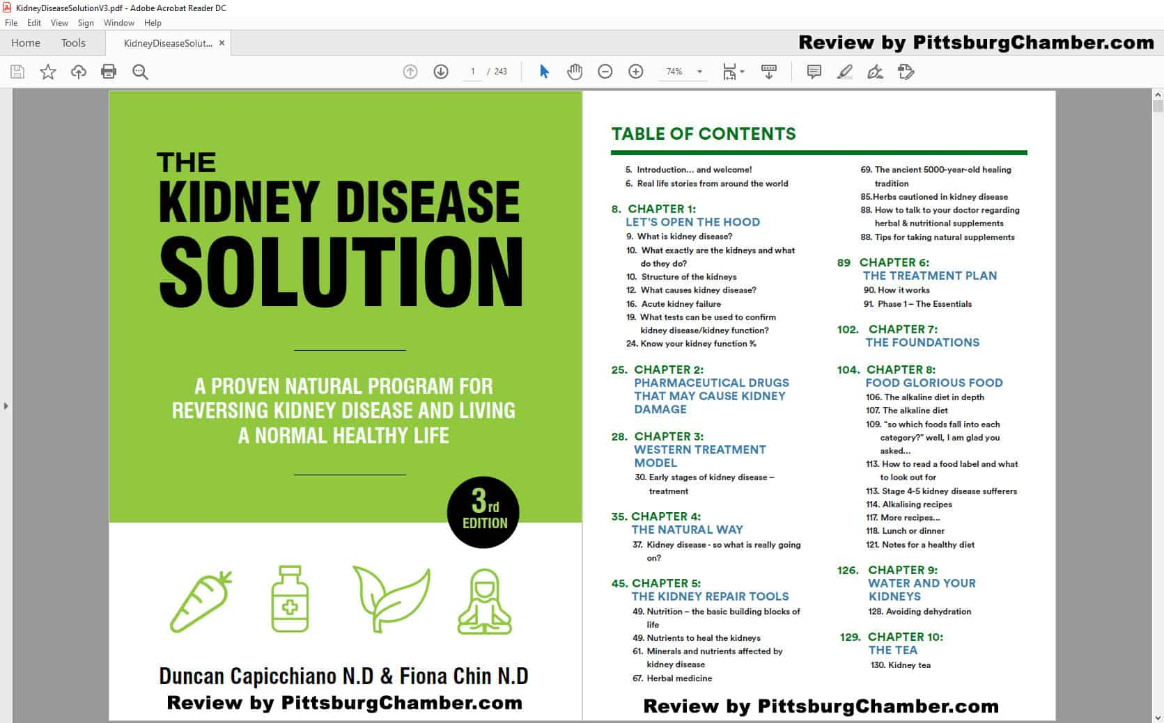 The Kidney Disease Solution Table of Contents